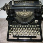This is my typewriter.  I do all my blog postings from here.